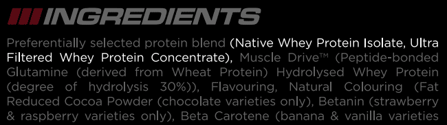 Reflex Instant Whey Contains Whey Concentrate and Isolate