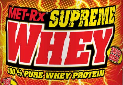 MET-Rx Supreme Whey Tub Design.