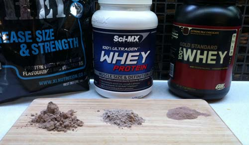 Xtra Whey, Ultragen Whey and Gold Standard Whey Powder Comparison